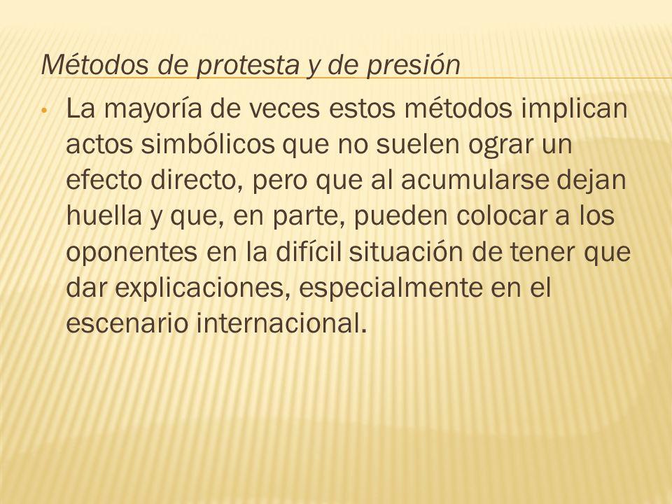 Métodos de protesta y de presión
