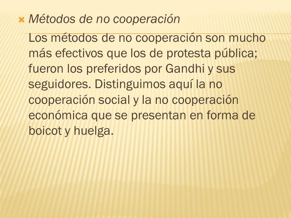 Métodos de no cooperación