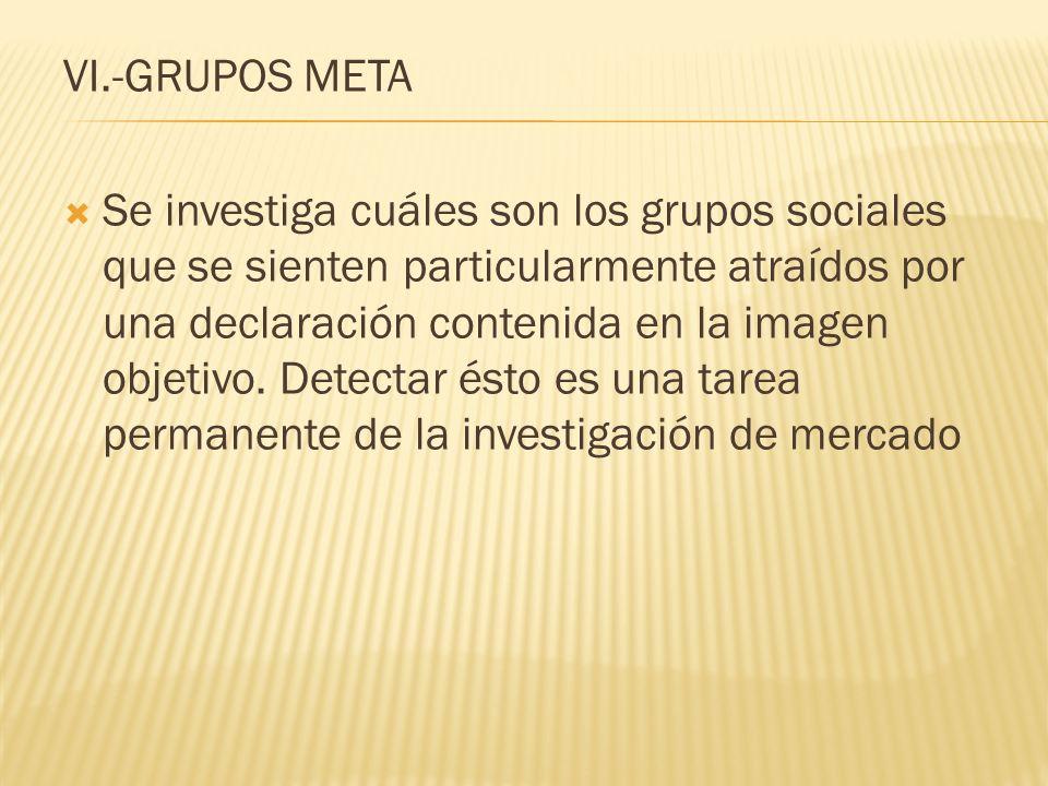 VI.-GRUPOS META
