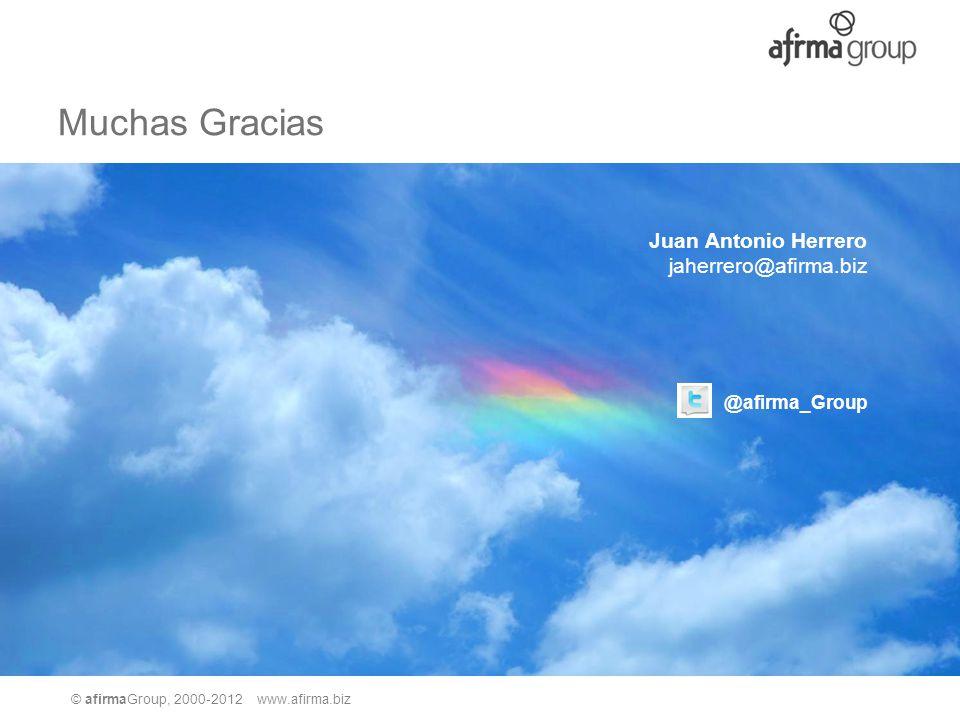 Muchas Gracias Juan Antonio Herrero jaherrero@afirma.biz @afirma_Group