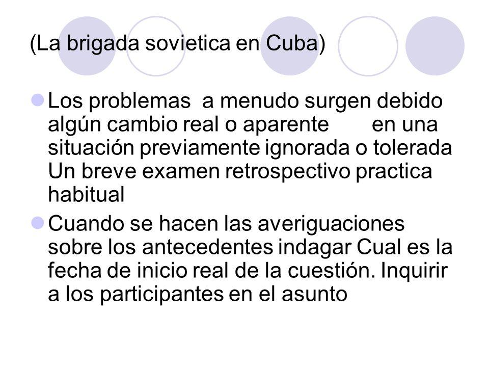 (La brigada sovietica en Cuba)