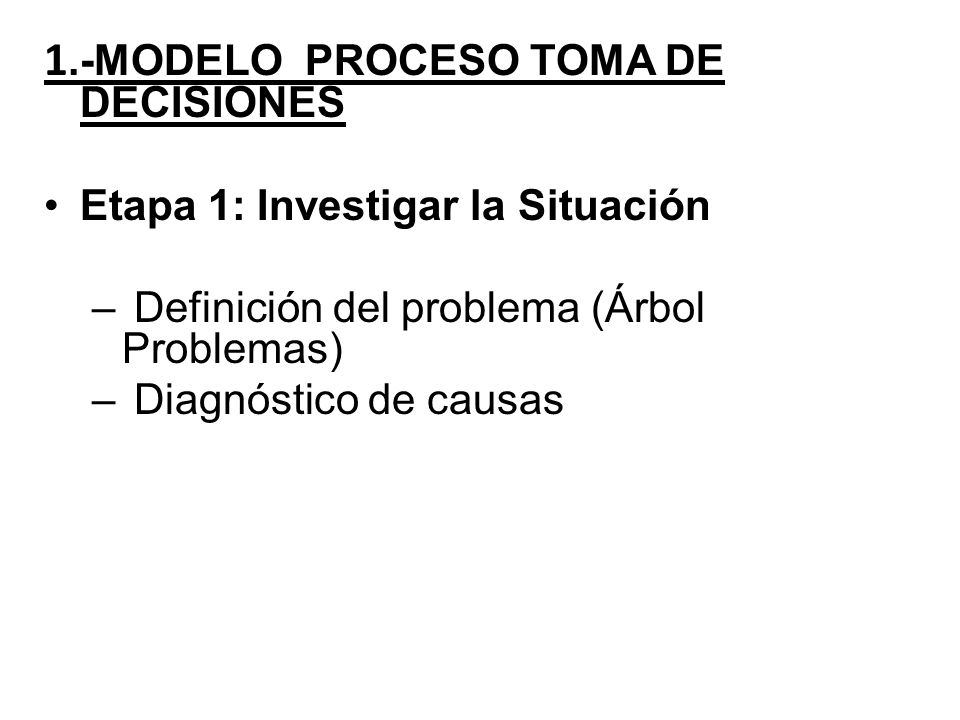 1.-MODELO PROCESO TOMA DE DECISIONES