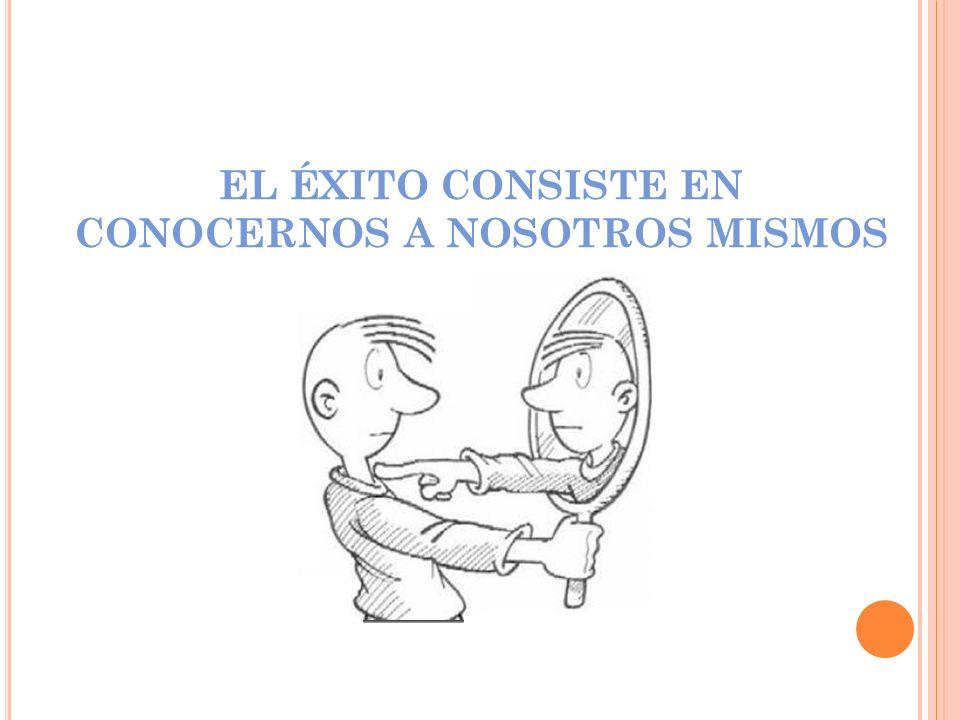 EL ÉXITO CONSISTE EN CONOCERNOS A NOSOTROS MISMOS
