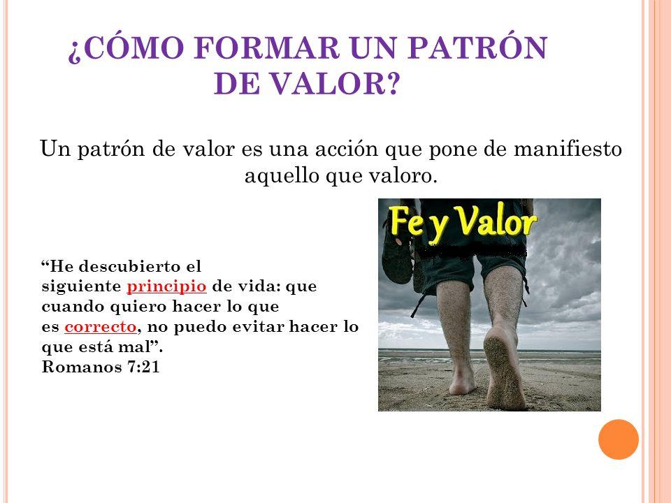¿CÓMO FORMAR UN PATRÓN DE VALOR