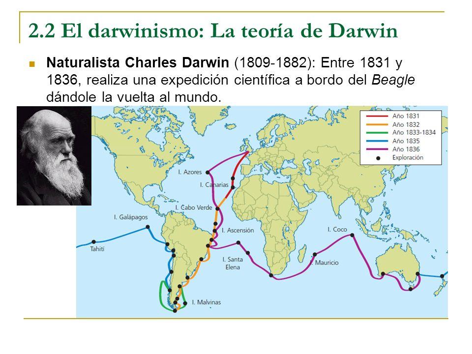 2.2 El darwinismo: La teoría de Darwin