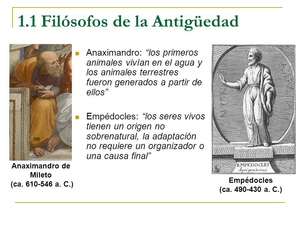 1.1 Filósofos de la Antigüedad