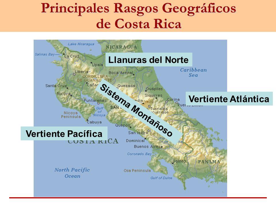 Principales Rasgos Geográficos de Costa Rica
