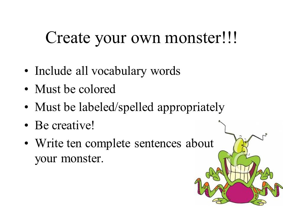 Create your own monster!!!