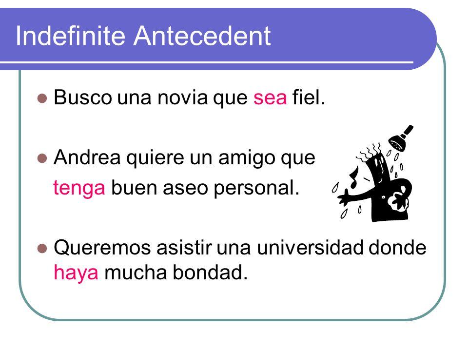 Indefinite Antecedent