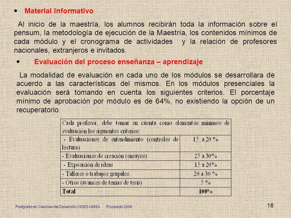 · Material Informativo