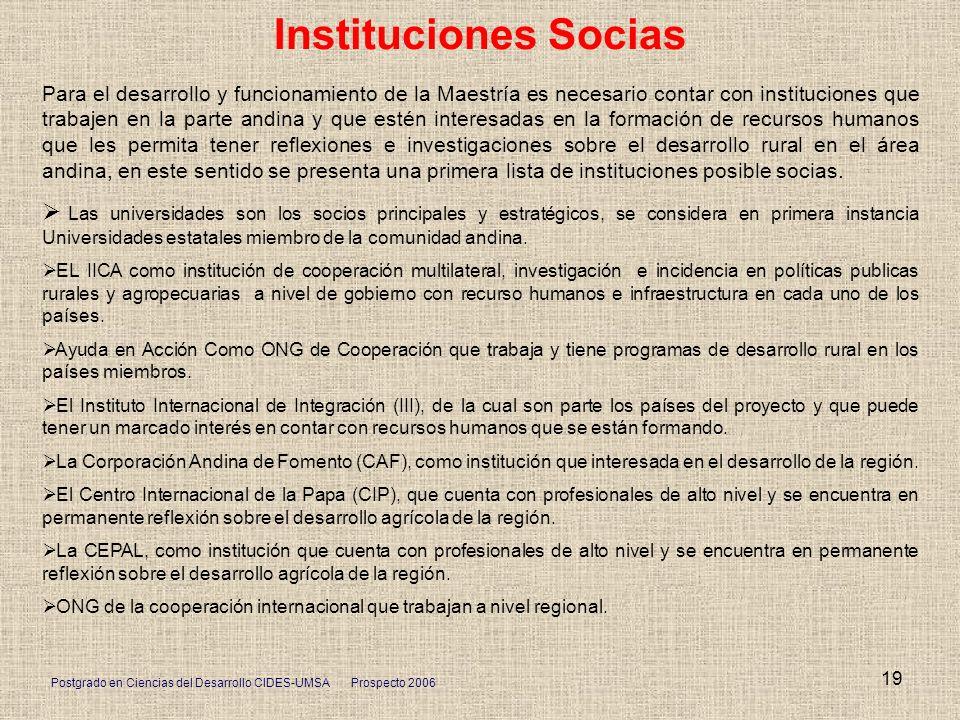Instituciones Socias