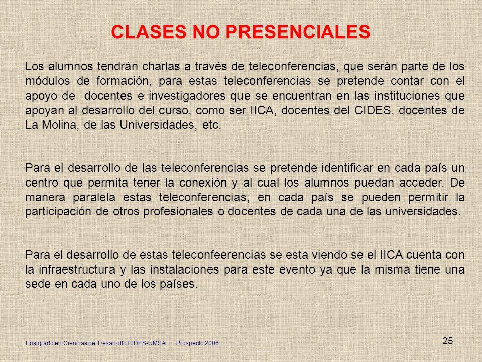 CLASES NO PRESENCIALES