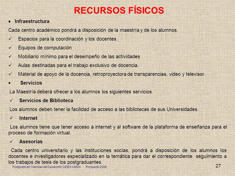 RECURSOS FÍSICOS · Infraestructura