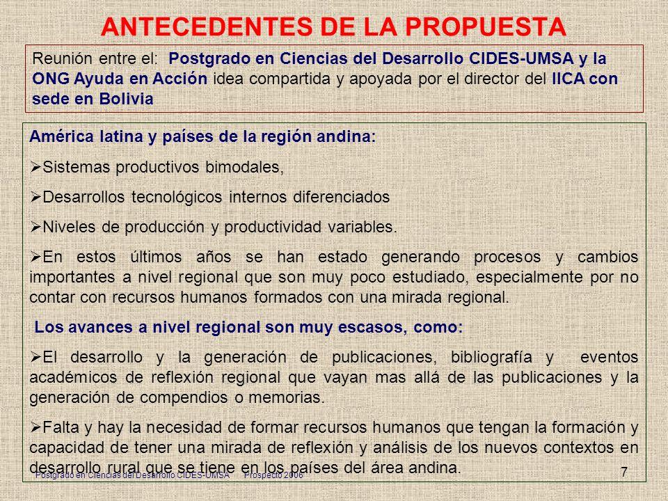 ANTECEDENTES DE LA PROPUESTA