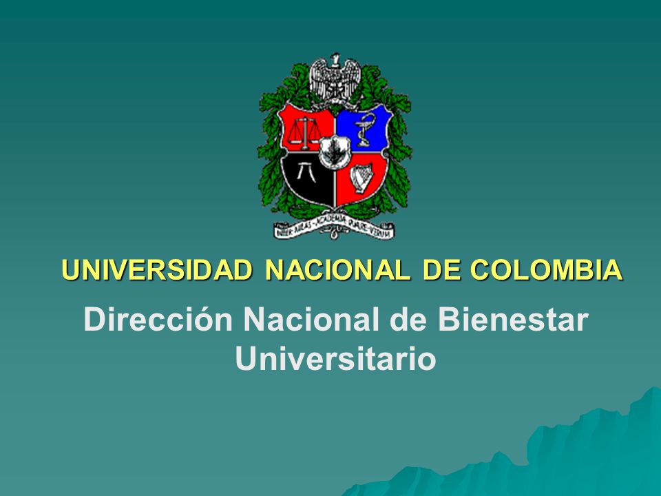 UNIVERSIDAD NACIONAL DE COLOMBIA
