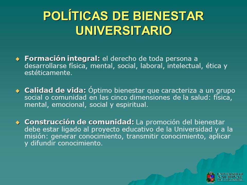 POLÍTICAS DE BIENESTAR UNIVERSITARIO