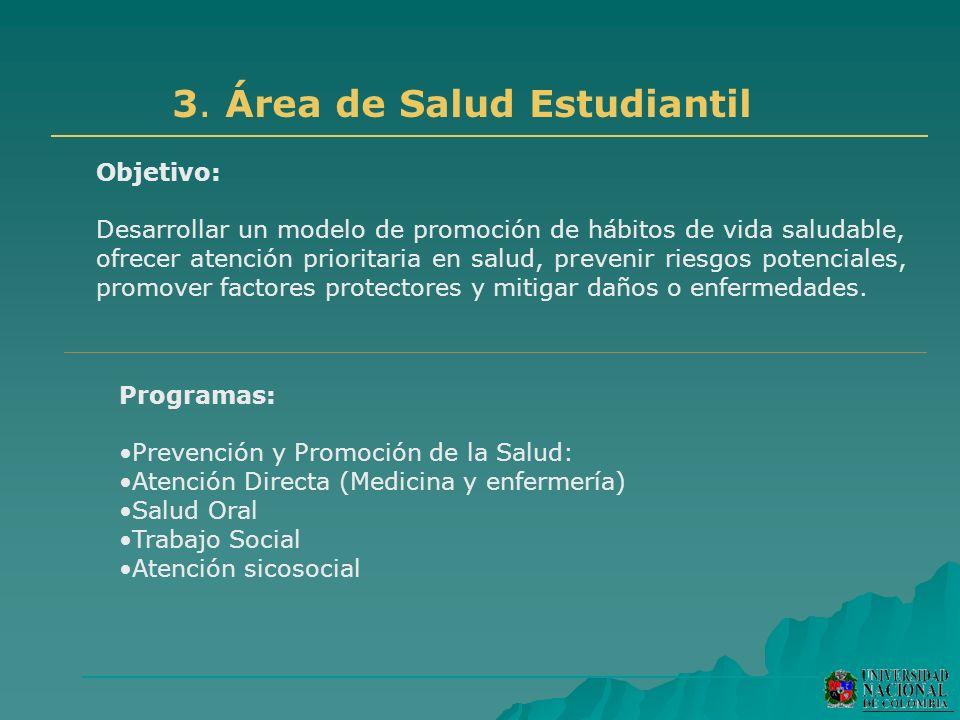 3. Área de Salud Estudiantil