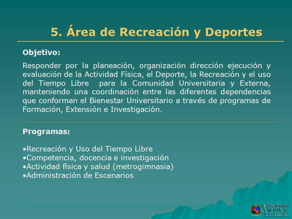 5. Área de Recreación y Deportes