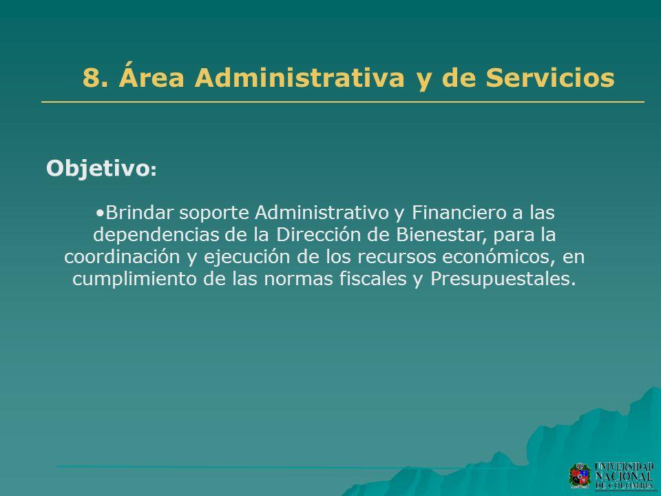 8. Área Administrativa y de Servicios