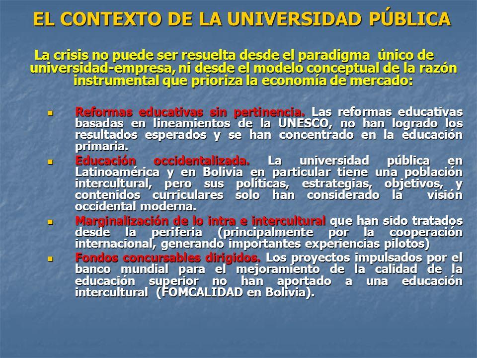 EL CONTEXTO DE LA UNIVERSIDAD PÚBLICA