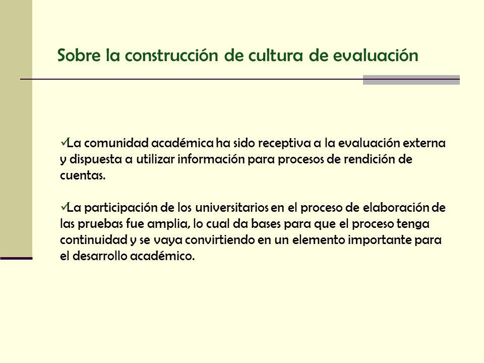 Sobre la construcción de cultura de evaluación