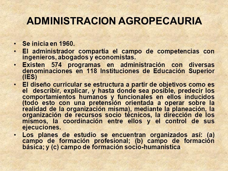 ADMINISTRACION AGROPECAURIA
