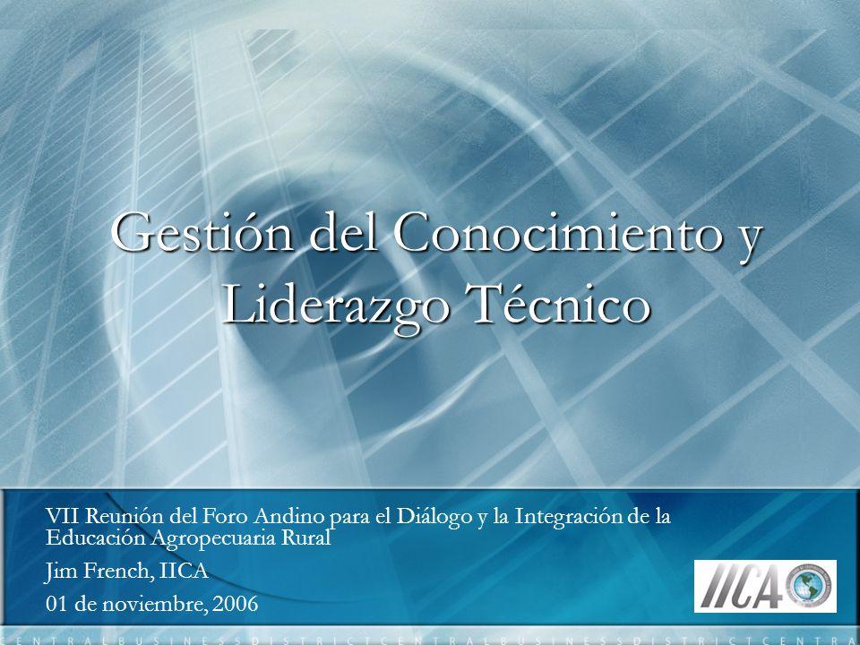 Gestión del Conocimiento y Liderazgo Técnico