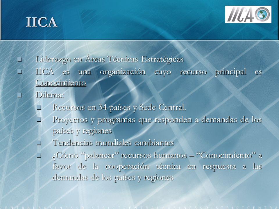 IICA Liderazgo en Áreas Técnicas Estratégicas
