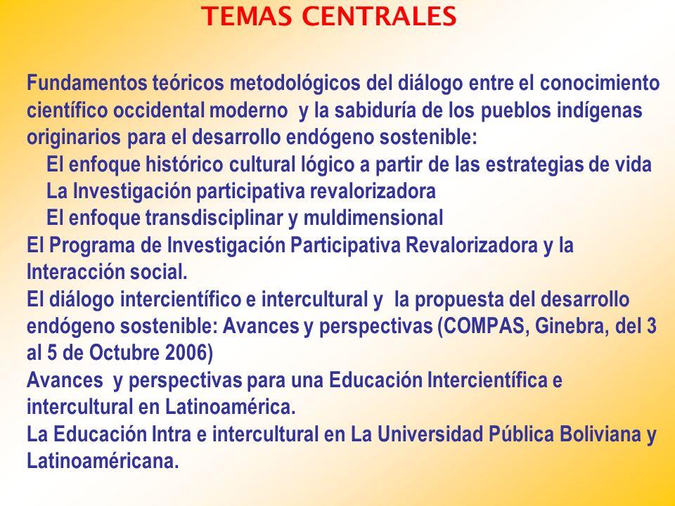 TEMAS CENTRALES