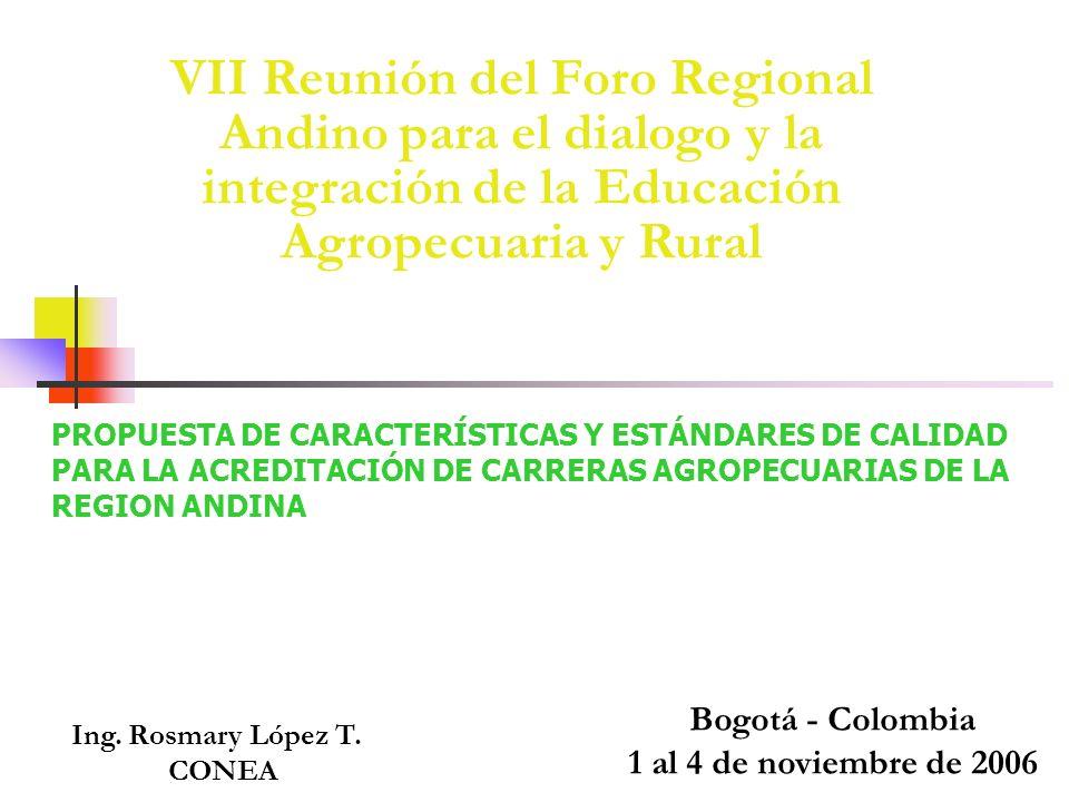 VII Reunión del Foro Regional Andino para el dialogo y la integración de la Educación Agropecuaria y Rural