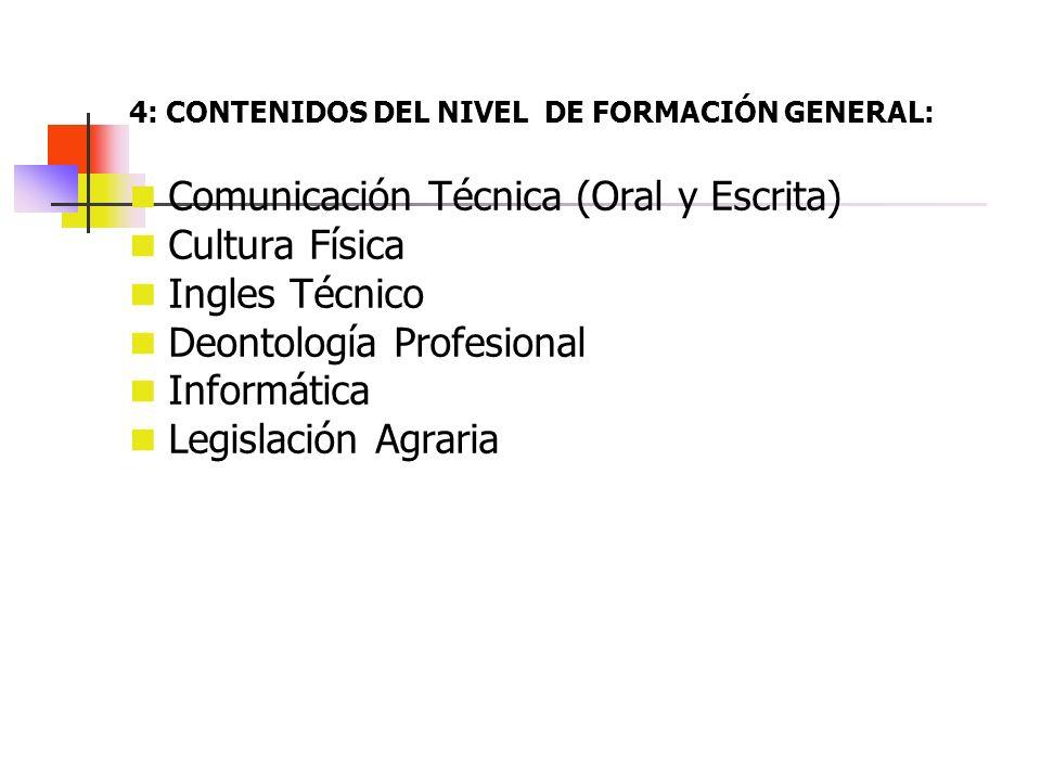 Comunicación Técnica (Oral y Escrita) Cultura Física Ingles Técnico