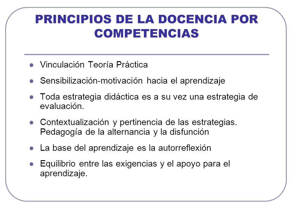 PRINCIPIOS DE LA DOCENCIA POR COMPETENCIAS