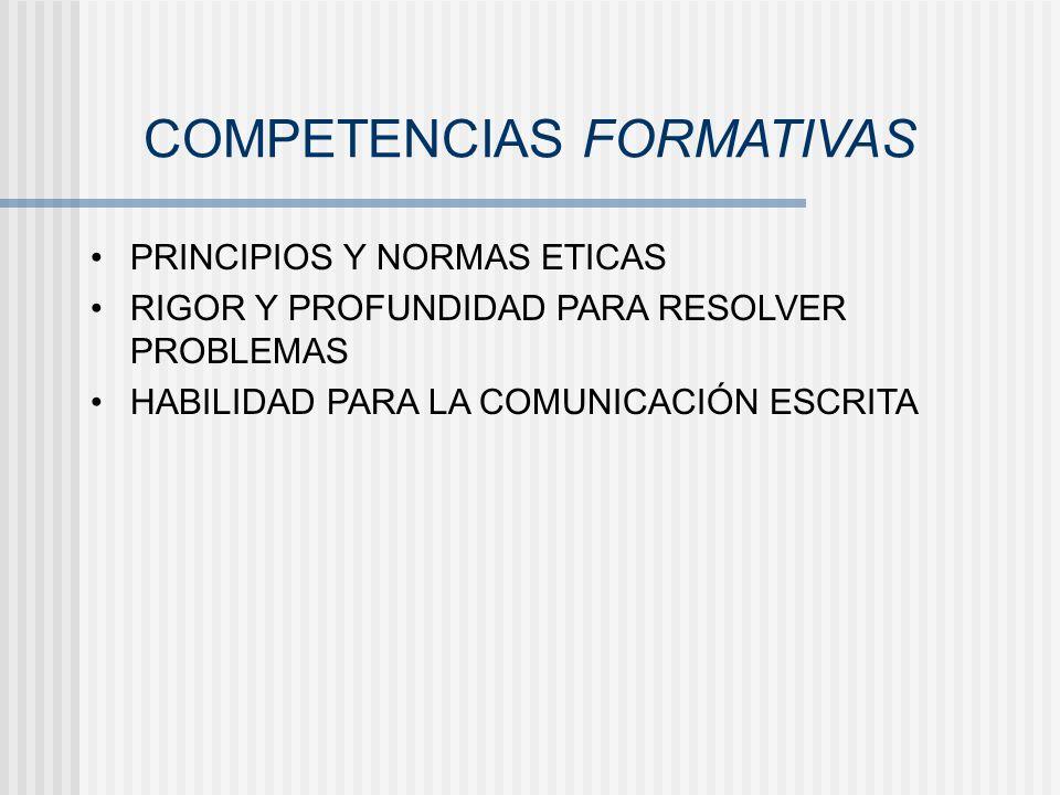 COMPETENCIAS FORMATIVAS