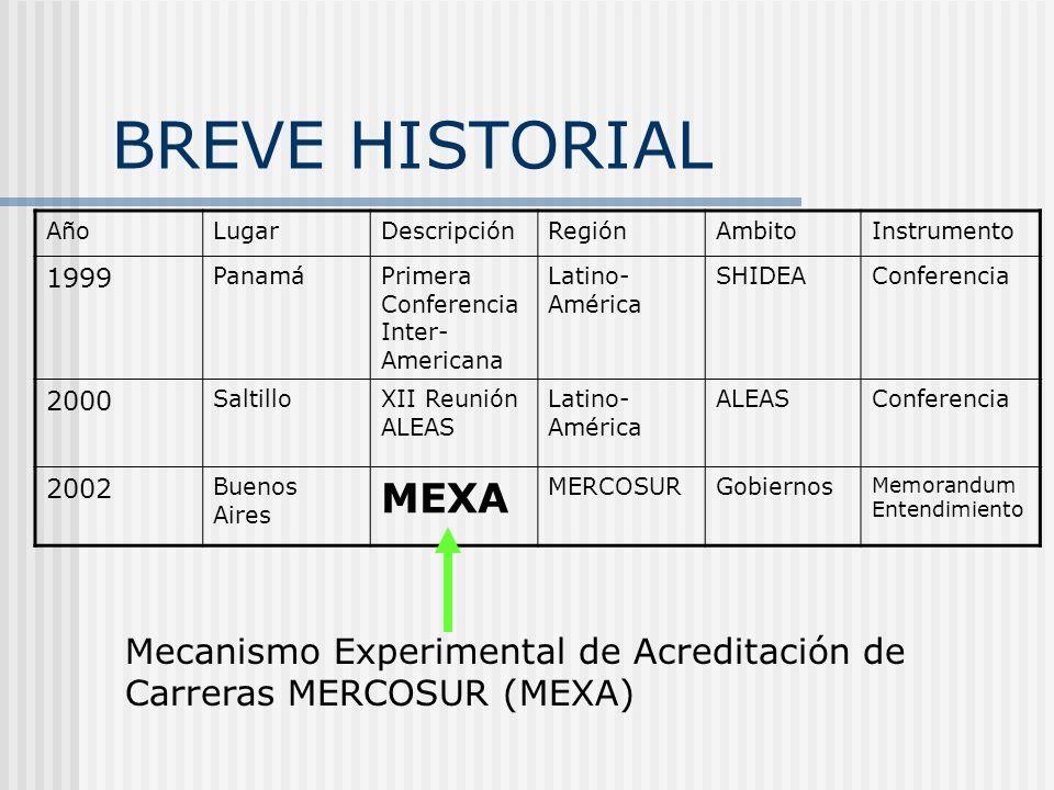 BREVE HISTORIAL Año. Lugar. Descripción. Región. Ambito. Instrumento. 1999. Panamá. Primera Conferencia Inter-Americana.