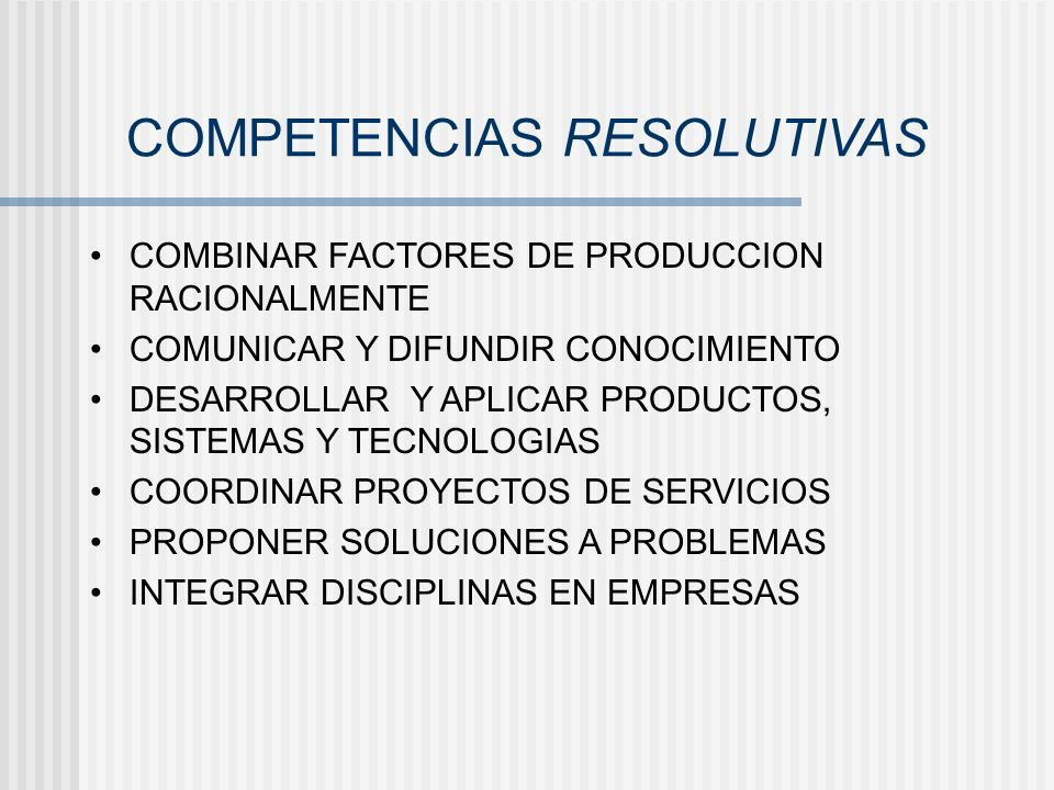 COMPETENCIAS RESOLUTIVAS