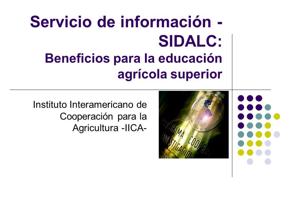 Instituto Interamericano de Cooperación para la Agricultura -IICA-