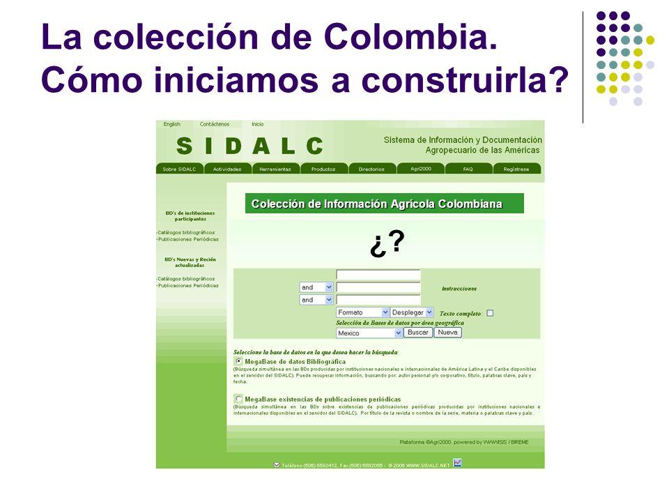 La colección de Colombia. Cómo iniciamos a construirla