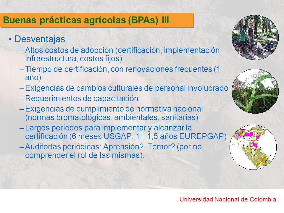 Buenas prácticas agrícolas (BPAs) III