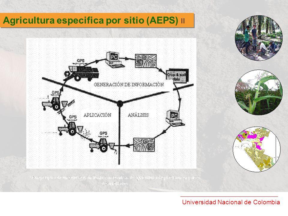 Agricultura especifica por sitio (AEPS) II