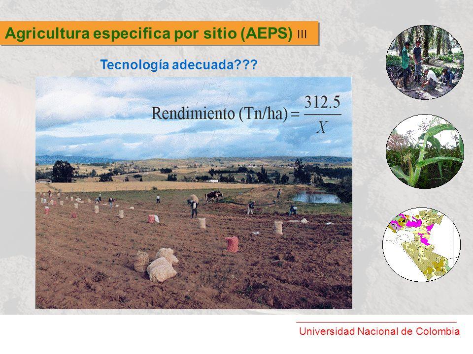 Agricultura especifica por sitio (AEPS) III