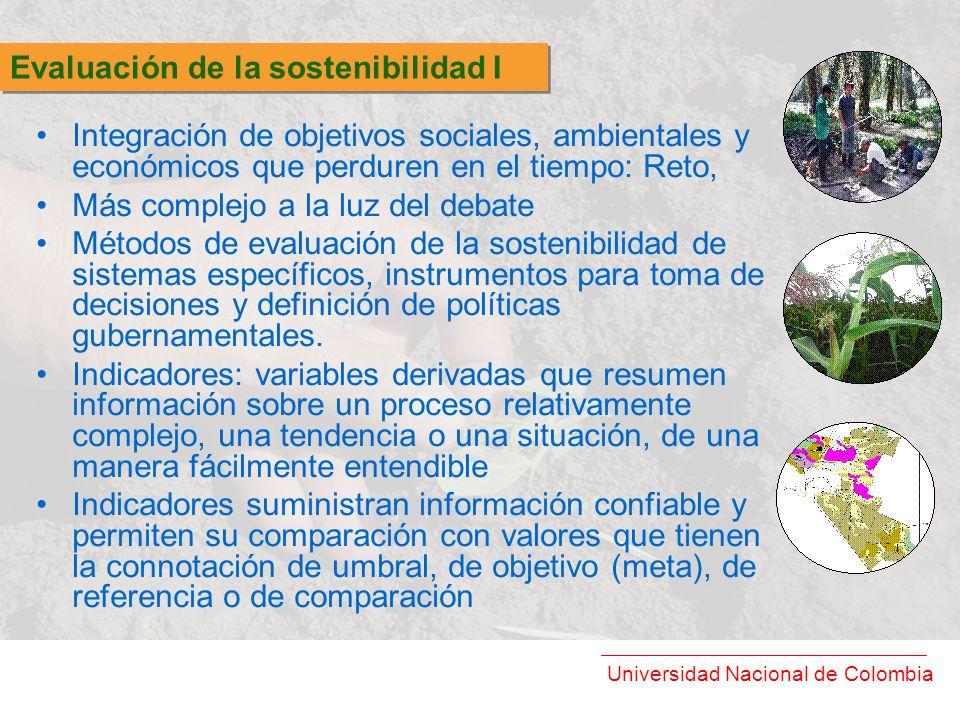 Evaluación de la sostenibilidad I