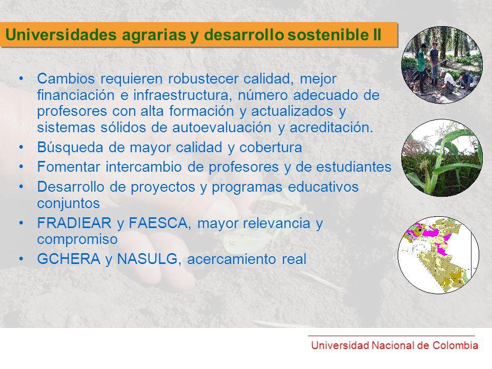 Universidades agrarias y desarrollo sostenible II