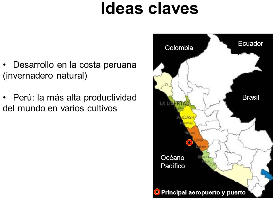 Ideas claves Desarrollo en la costa peruana (invernadero natural)