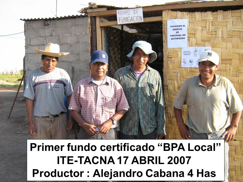 Primer fundo certificado BPA Local ITE-TACNA 17 ABRIL 2007