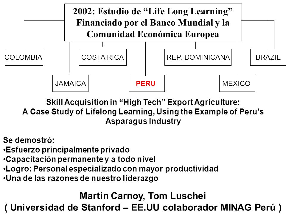 2002: Estudio de Life Long Learning
