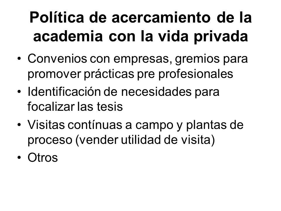 Política de acercamiento de la academia con la vida privada