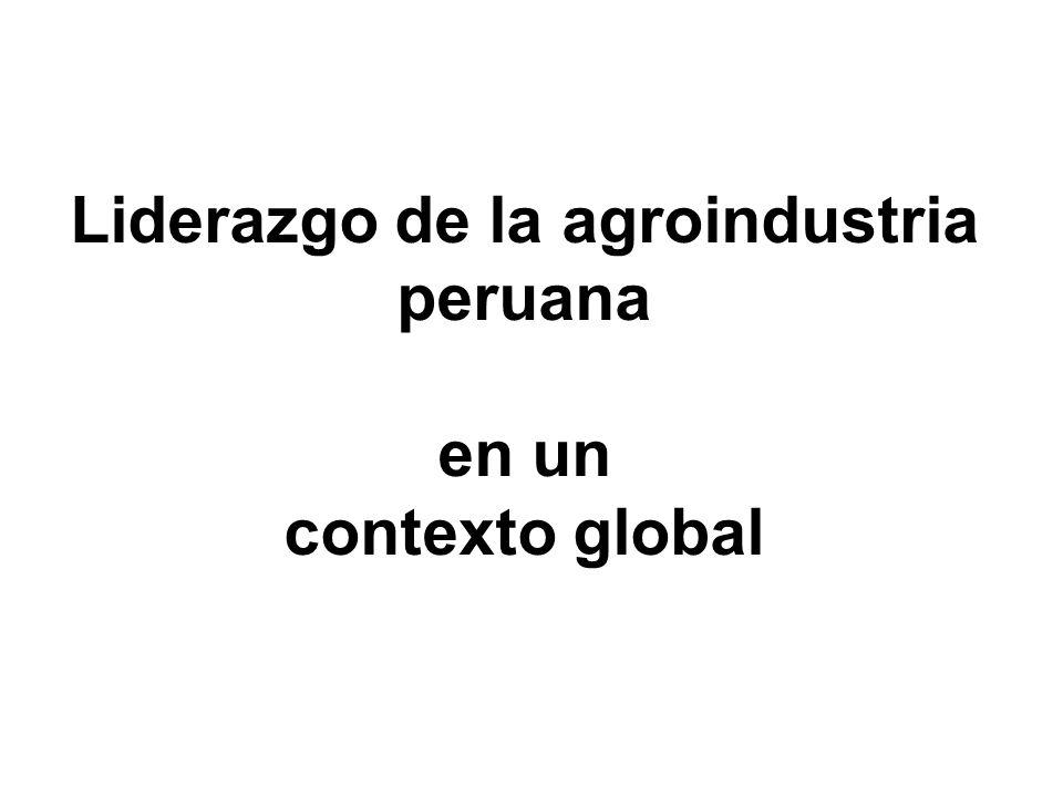 Liderazgo de la agroindustria peruana en un contexto global