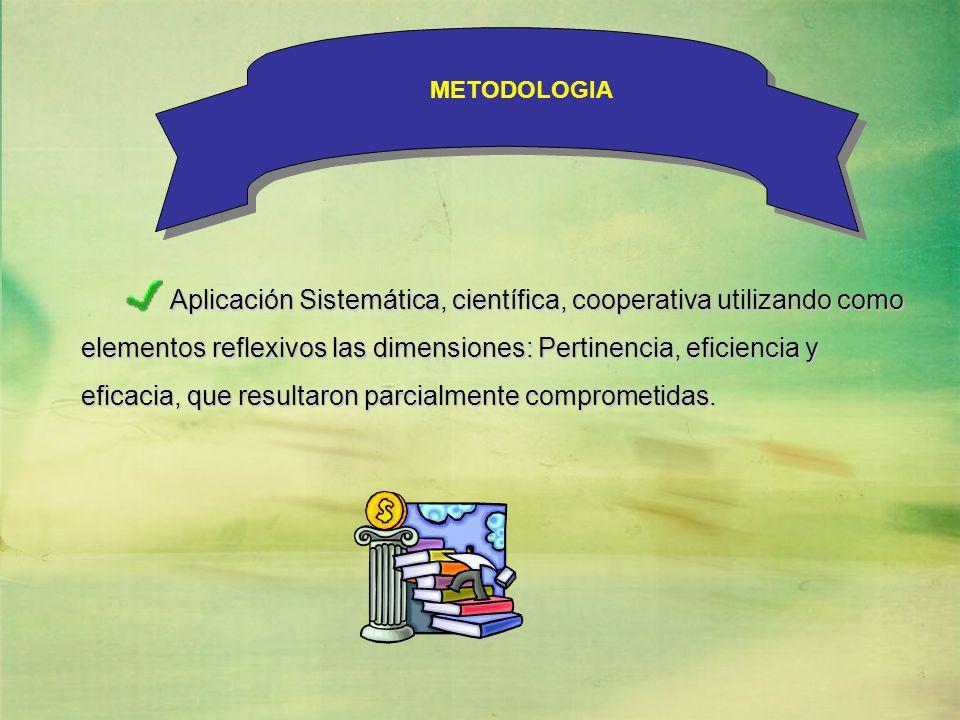 Aplicación Sistemática, científica, cooperativa utilizando como
