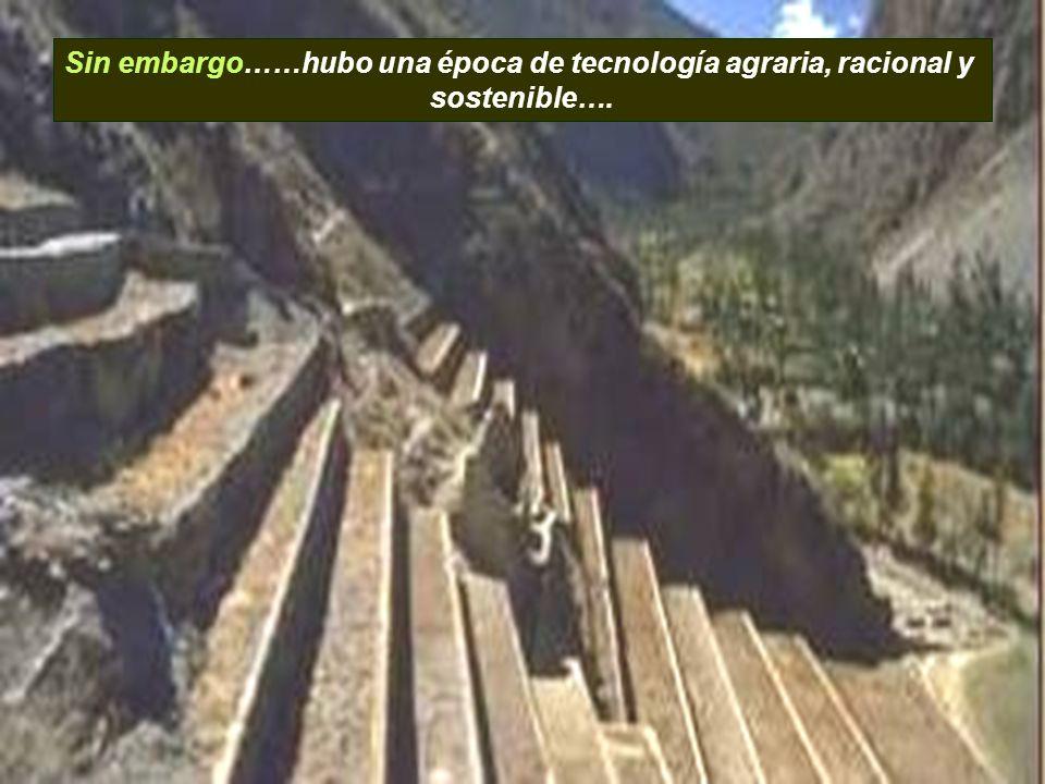 Sin embargo……hubo una época de tecnología agraria, racional y