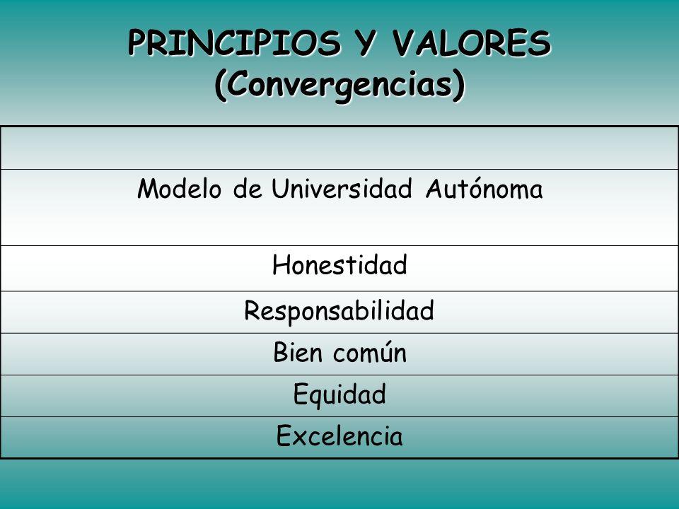 PRINCIPIOS Y VALORES (Convergencias)